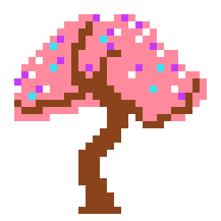 Cherry Blossom Tree Okami Sprite Pixel Art Maker