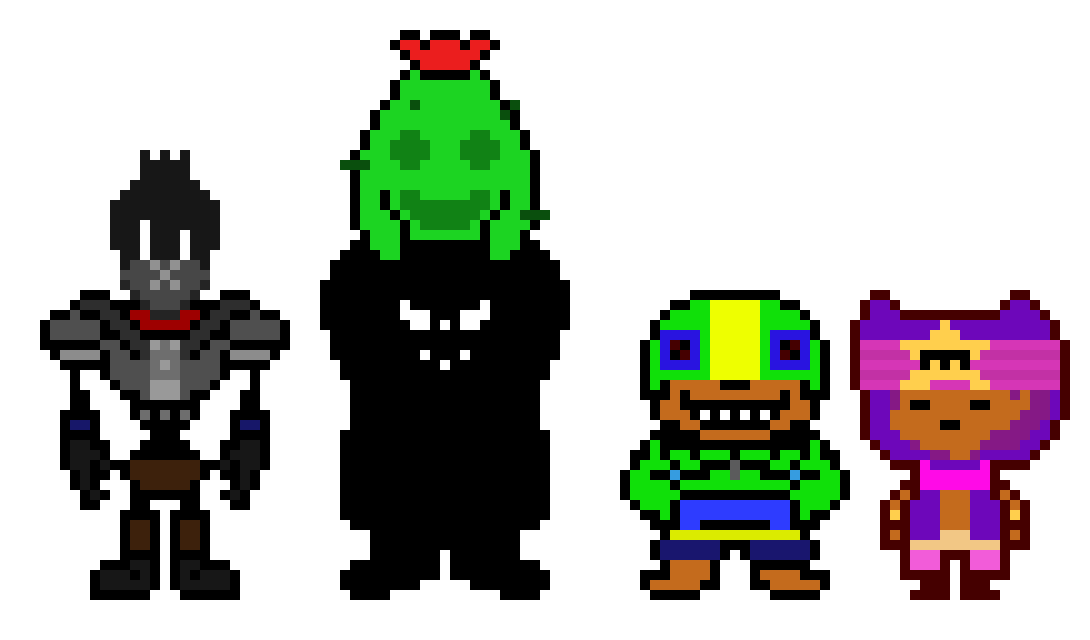 Undertale Characters X Brawl Stars Legendarys Pixel Art Maker
