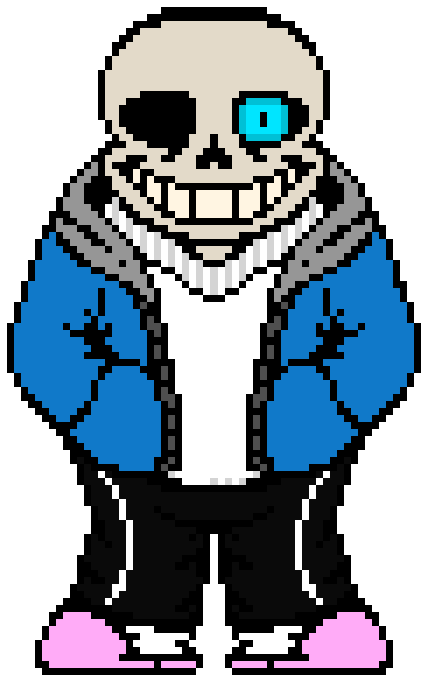 Sans (blue eye) | Pixel Art Maker