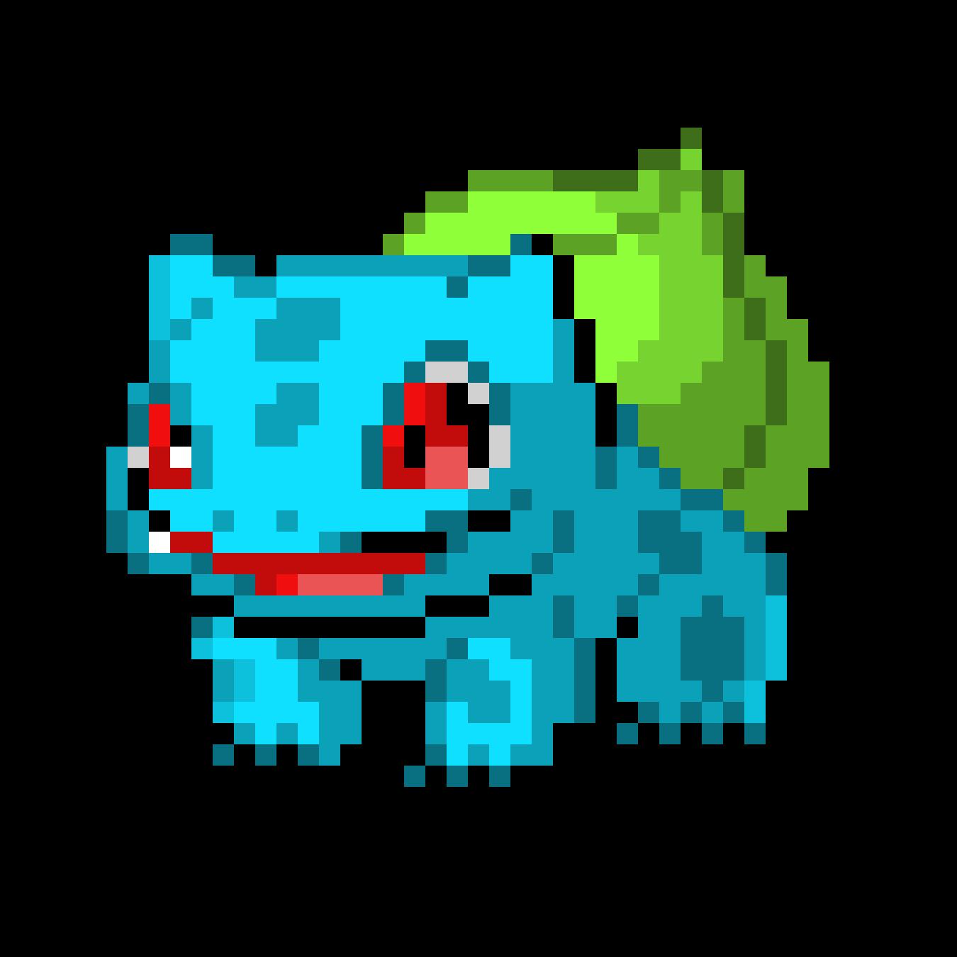 Bulbasaur Pixel Art Maker