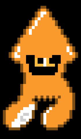 Splatoon Orange Inkling Squid Form Pixel Art Maker