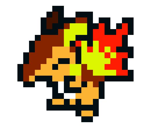 Cyndaquil And Raichu Fusion Pixel Art Maker
