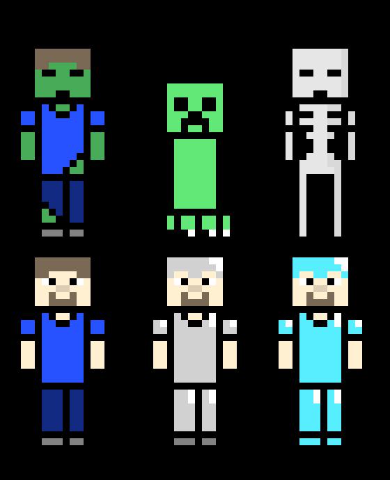 free minecraft sprites | Pixel Art Maker