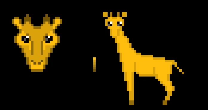 giraffes for cross-stitch
