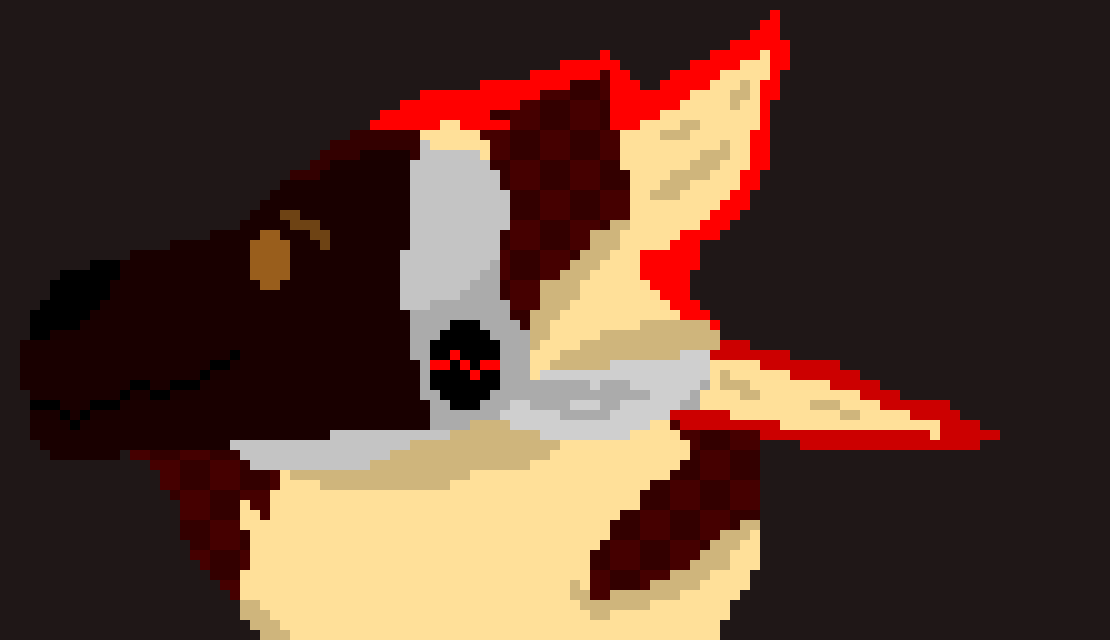 Terrie, as a protogen [Just the head...] | -Terrie