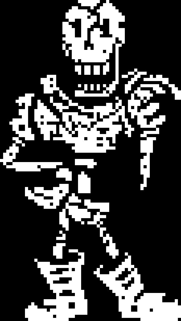 UnderRuin Papyrus (Battle) | Pixel Art Maker