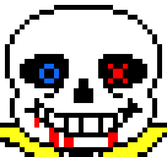 Lovetale Sans Chat Pixel Art Maker