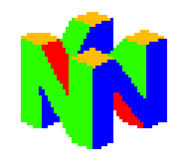 how to draw n64 logo