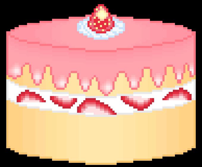 Strawberry Cake Pixel Art Maker