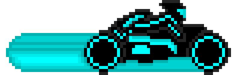 tron motorcycle | Pixel Art Maker
