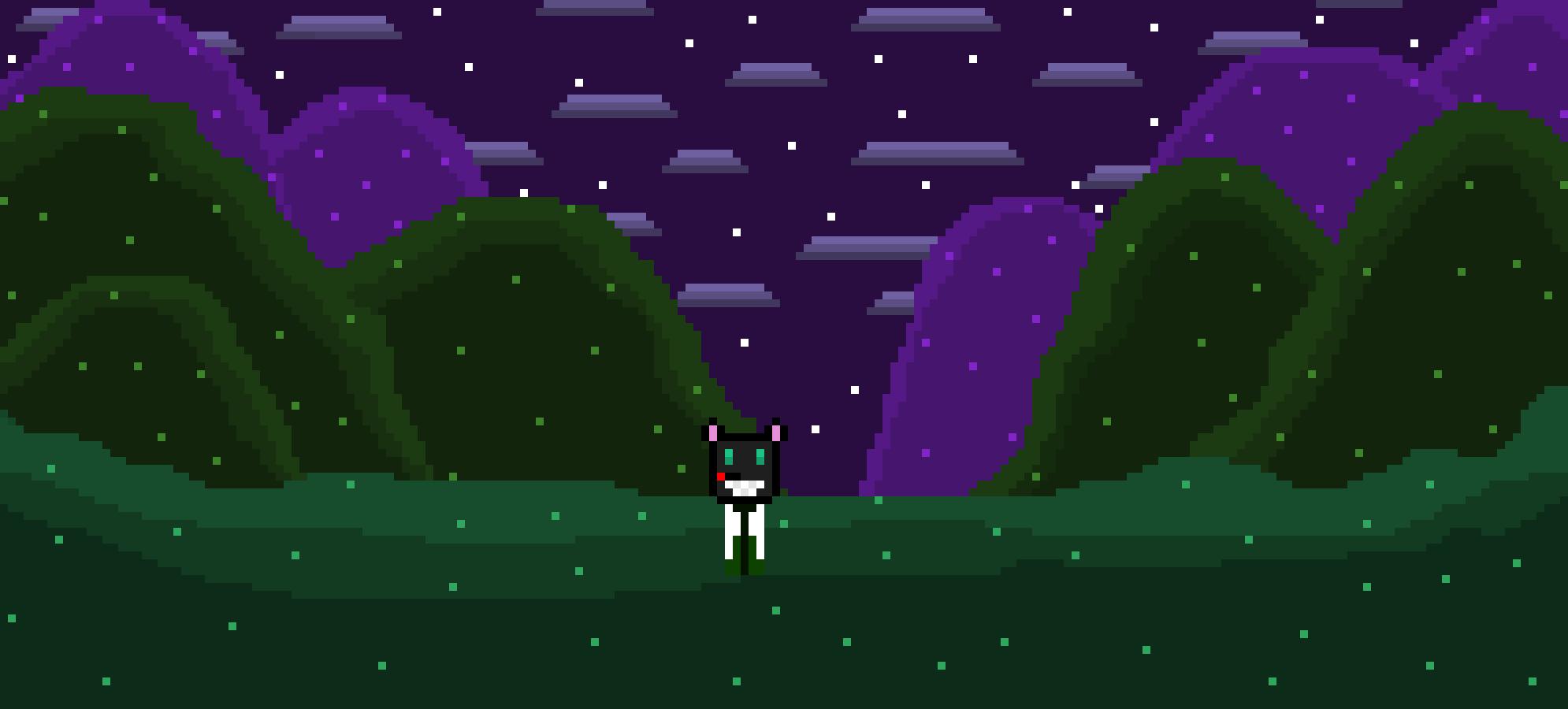 Night Time Hills