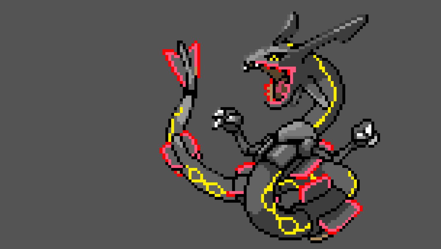 Shiny Rayquaza | Pixel Art Maker