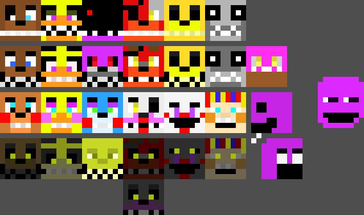 fnaf 3 pixel art