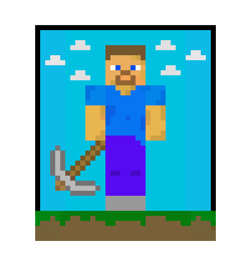 Steve Minecraft Pixel Art Maker