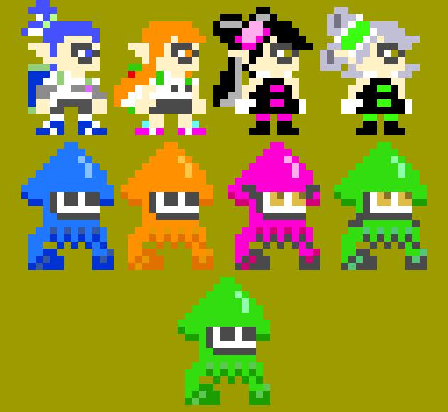 Splatoon Pixel Art Maker