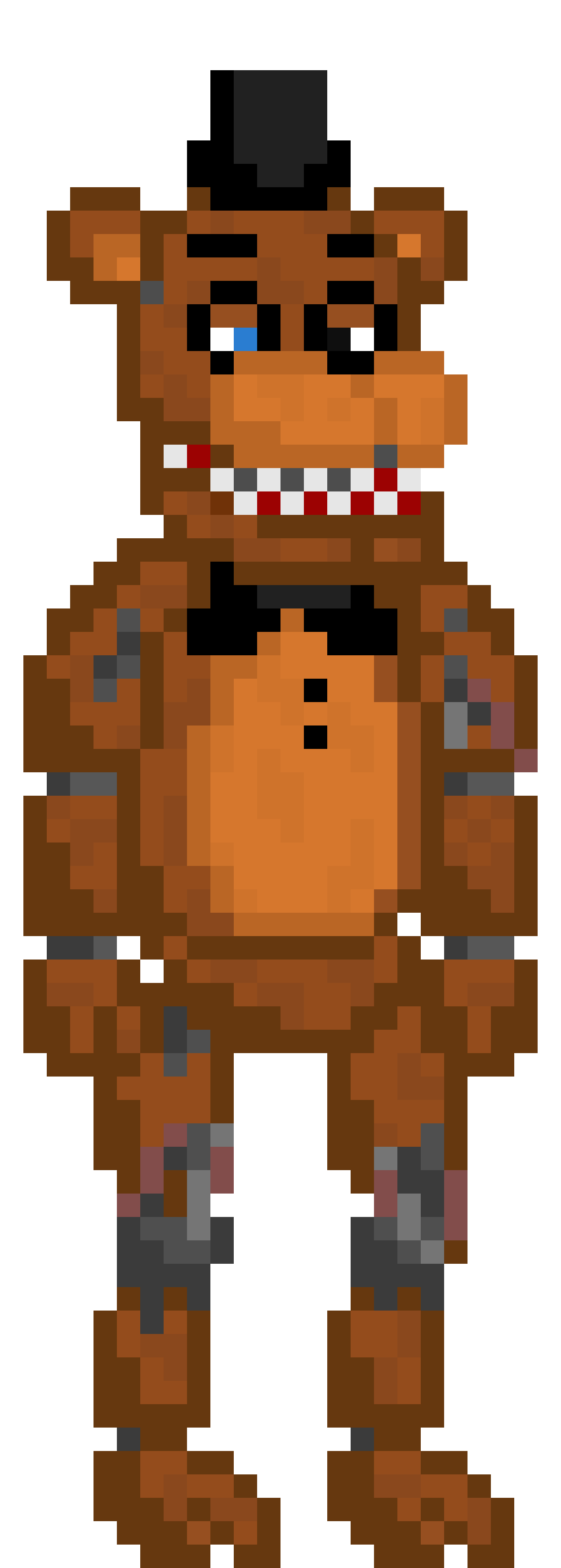 Withered Freddy   Pixel Art Maker