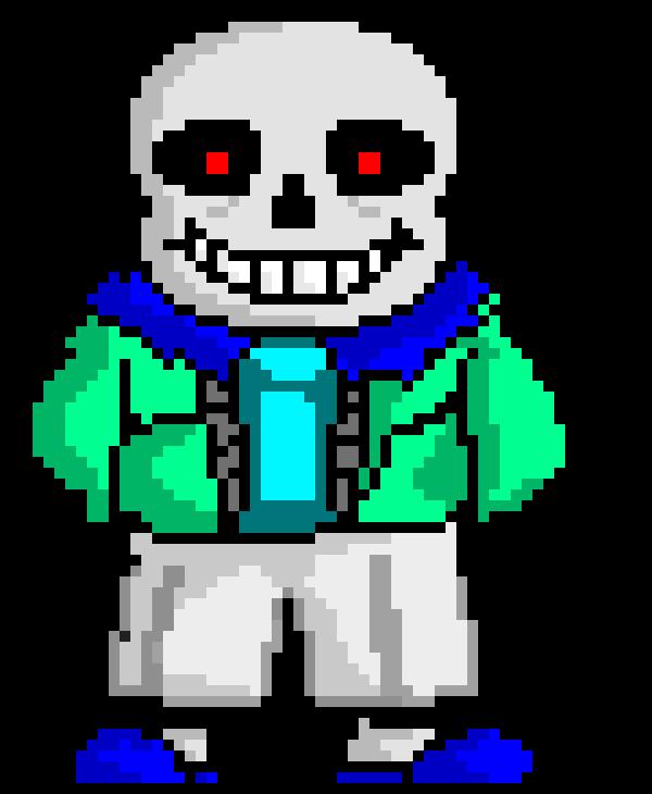 Cv Frozentale Sans Shaded Pixel Art Maker