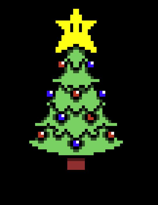 mario christmas tree | Pixel Art Maker
