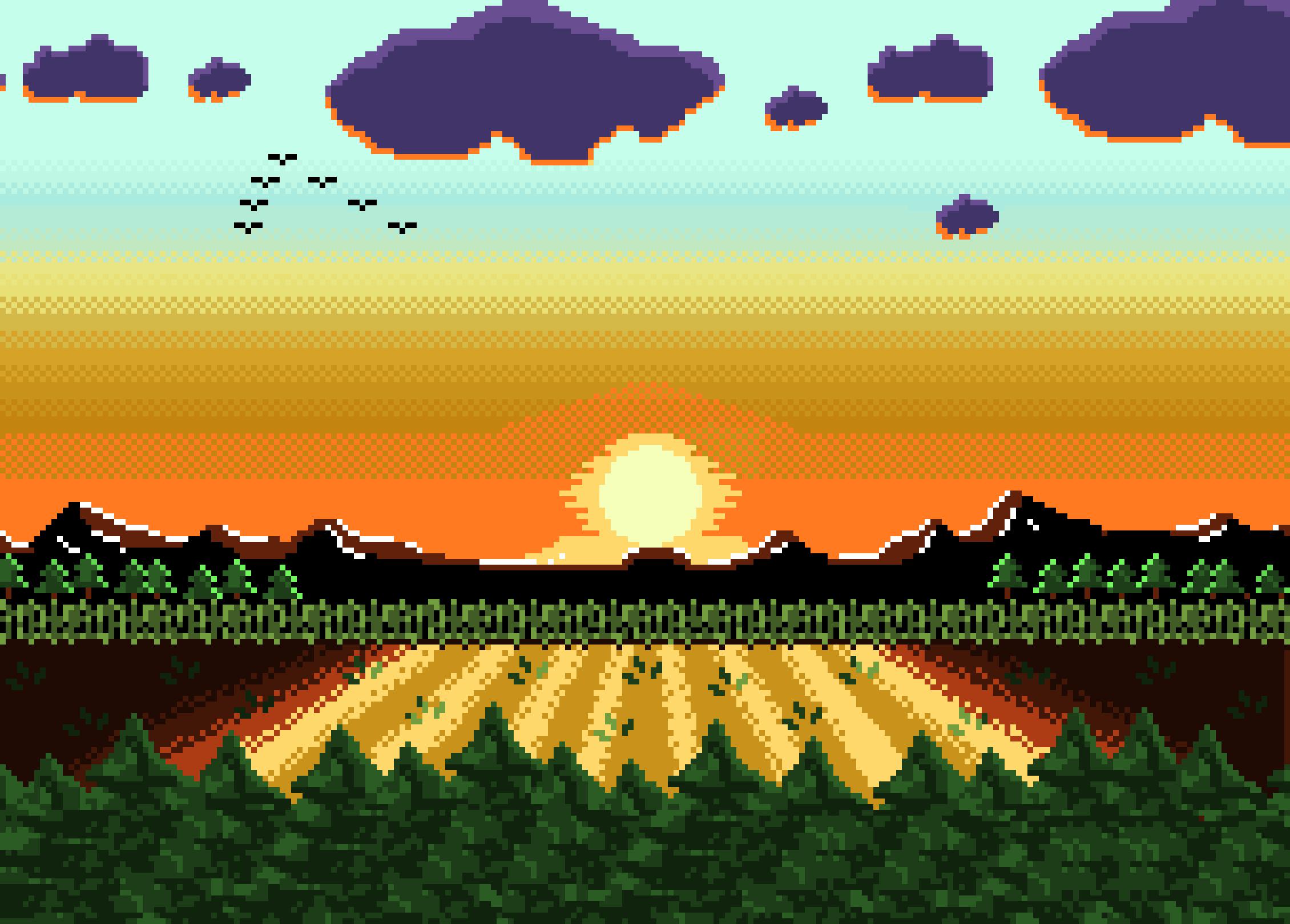 Landscape Pixel Art Pixel Art Maker