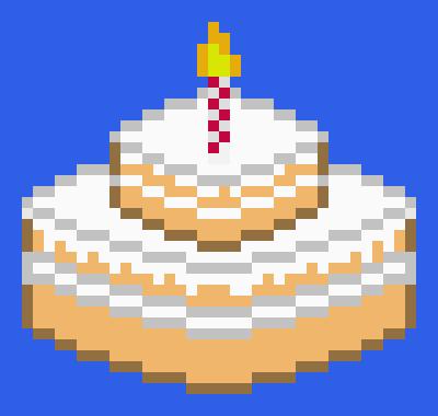 Birthday Cake Pixel Art Maker