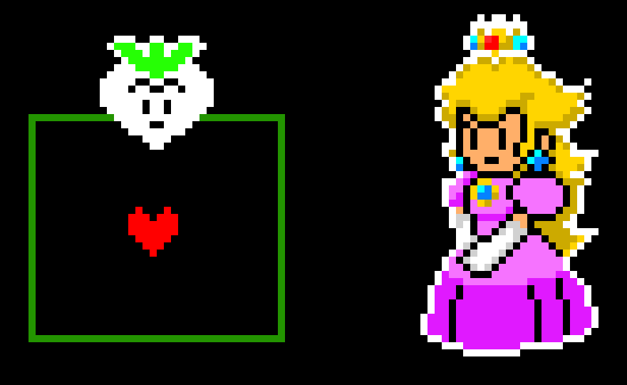 Smash brothers ultimate Characters as Deltarune battles (Peach)