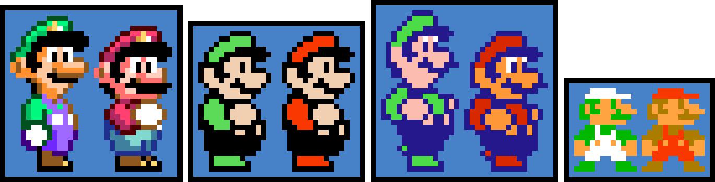 Super Mario Bros 1 2 3 And World Sprites Fixed Pixel Art Maker