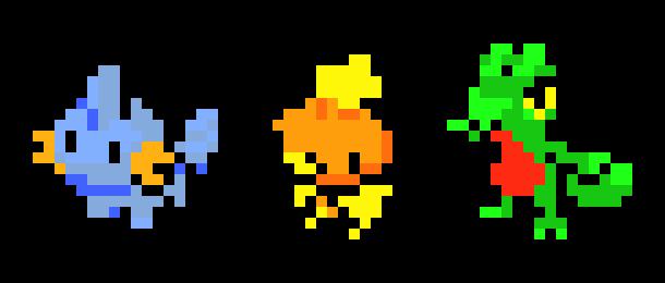 Hoenn Starter Pokemon Pixel Art By Tim Pixel Art Maker