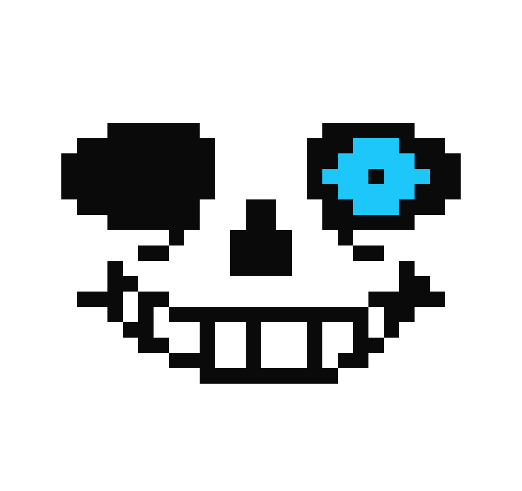 Sans blue Eye | Pixel Art Maker