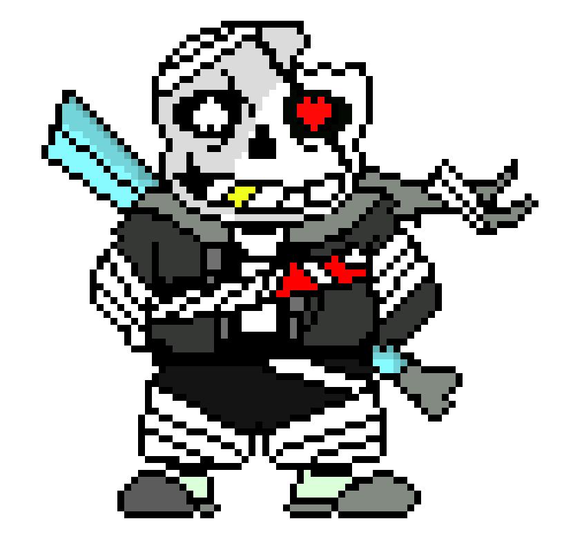 x tale cross sans wip pixel art maker