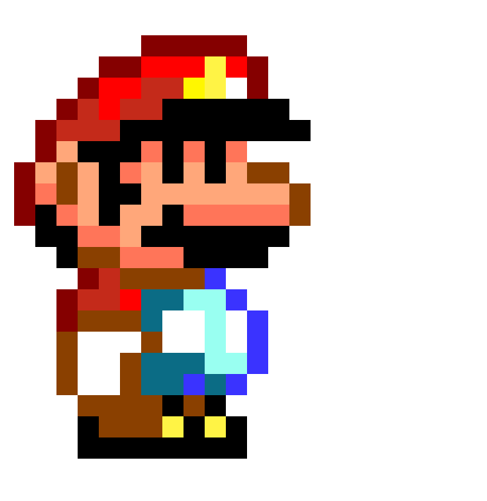 exellent pixel art mario to draw super bros drawing