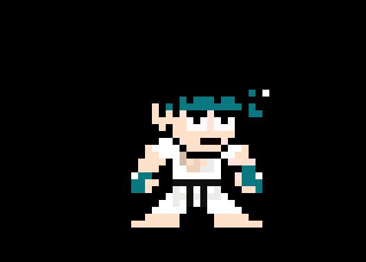 8 Bit Fighter Template oovan   Pixel Art Maker