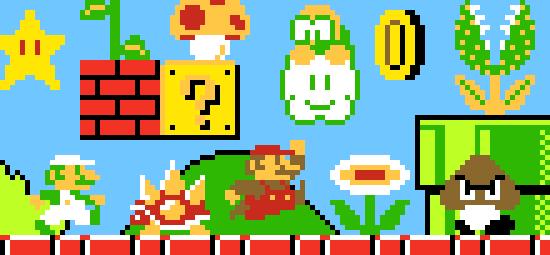 Super Mario Bros Pixel Art Maker