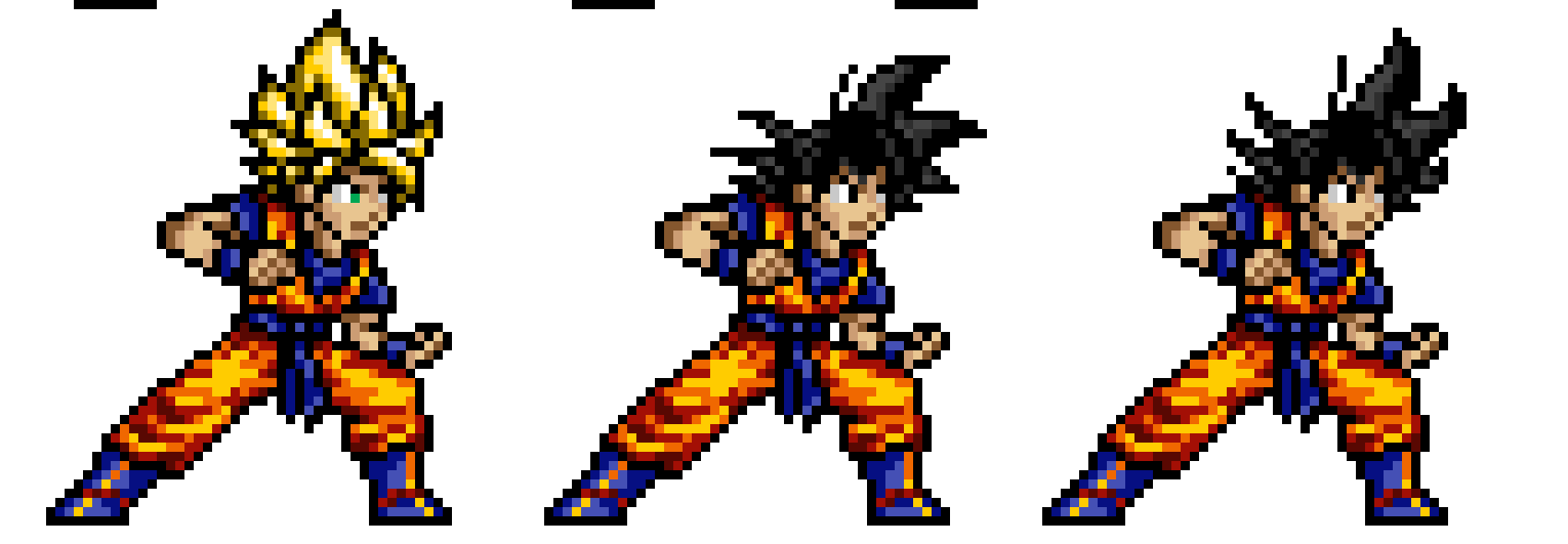 Dragon Ball Z Goku Pixel Art Maker