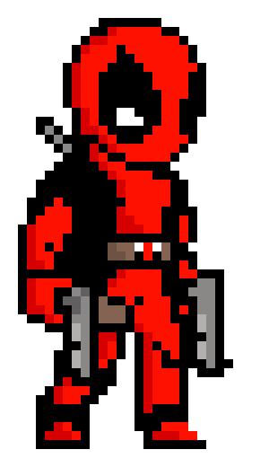 Pixel Art Deadpool Logo