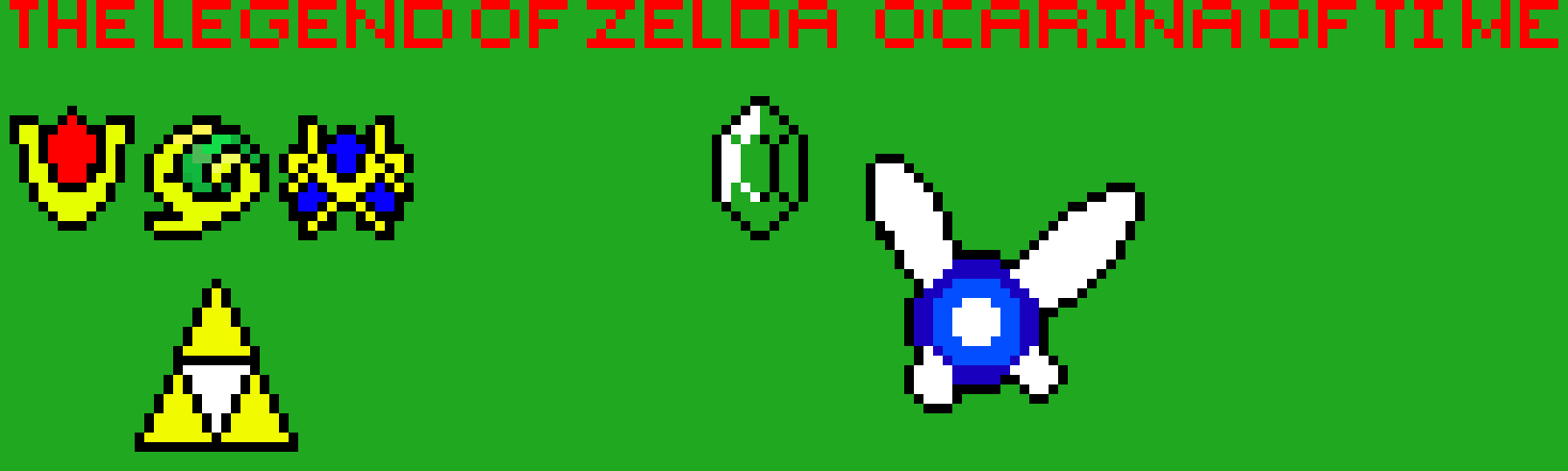 Legend Of Zelda Ocarina Of Time Pixel Art Maker