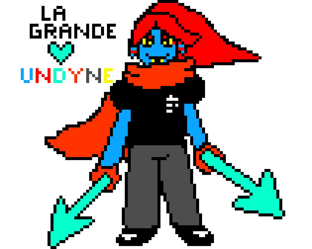 Oc Undyne Bizarre Et Pas Très Beau Pixel Art Maker