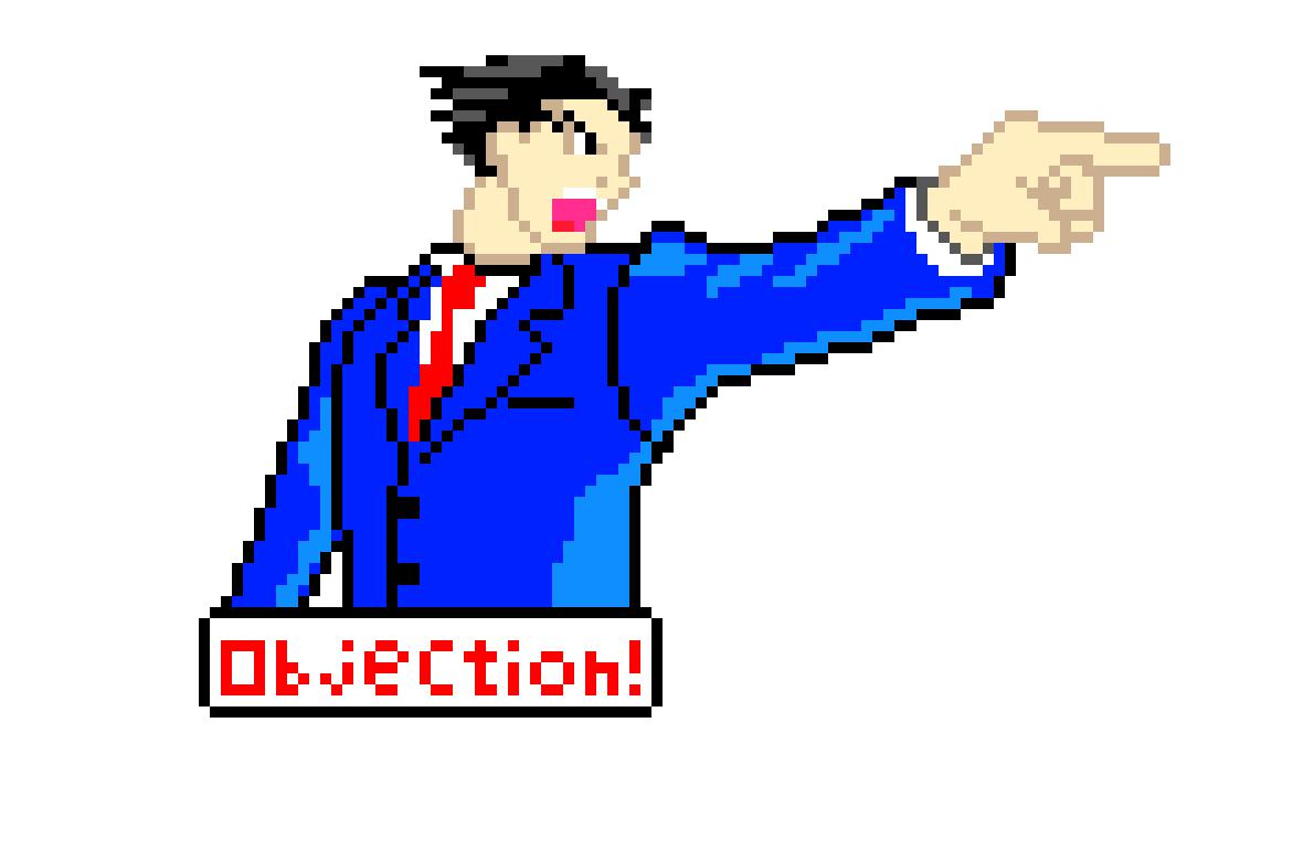 Phoenix Wright Ace Attorney Pixel Art Maker