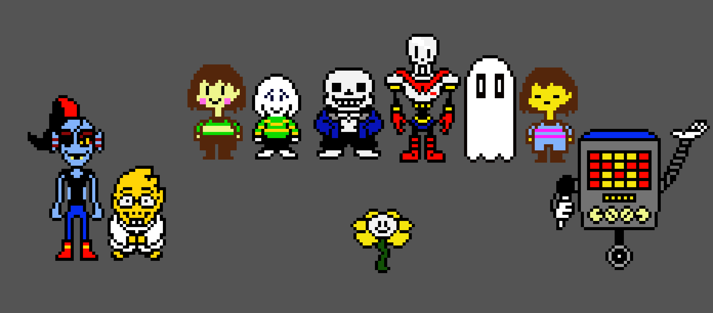 UNDERTALE PIXEL ART USE IT FOR ALL YOUR UNDERTALE NEEDS FREE FOR EDITING THIS AD IS SPONCERD BY MTT PRODUCTS GOODBYE