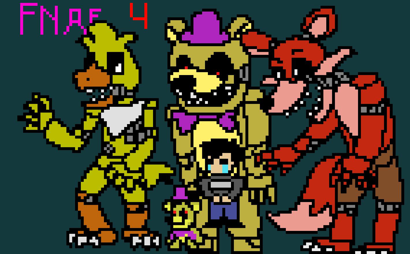 FNAF 4 (Not nightmare) | Pixel Art Maker