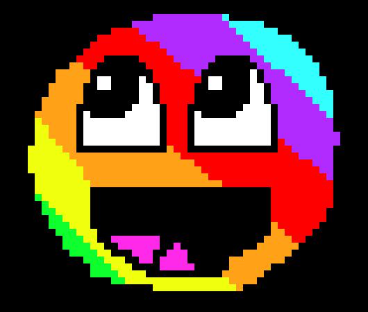Rainbow Epic Smiley Face Roblox Rainbow Epic Face Png Rainbow Epic Face 3 Pixel Art Maker