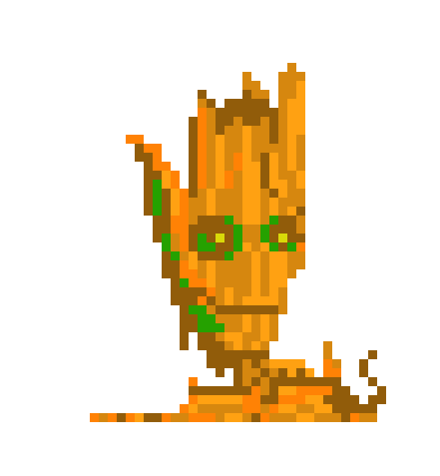 I M Groot Pixel Art Maker