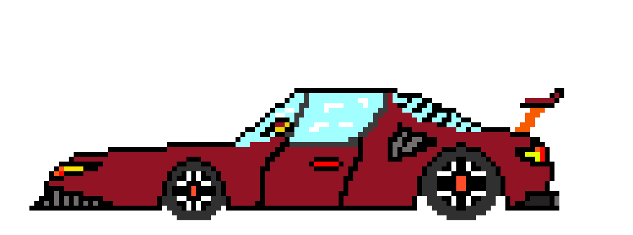 Sports Car Pixel Art Maker