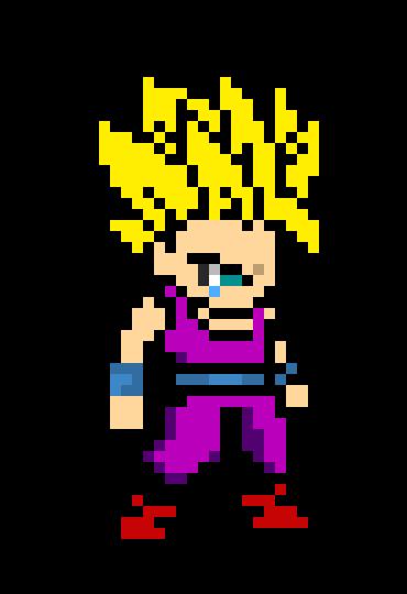 Teen Gohan Ssj2 Pixel Art Maker