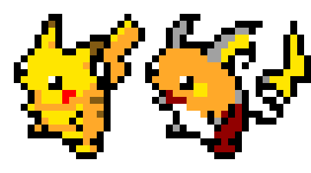 Pikachu And Raichu Pixel Art Maker