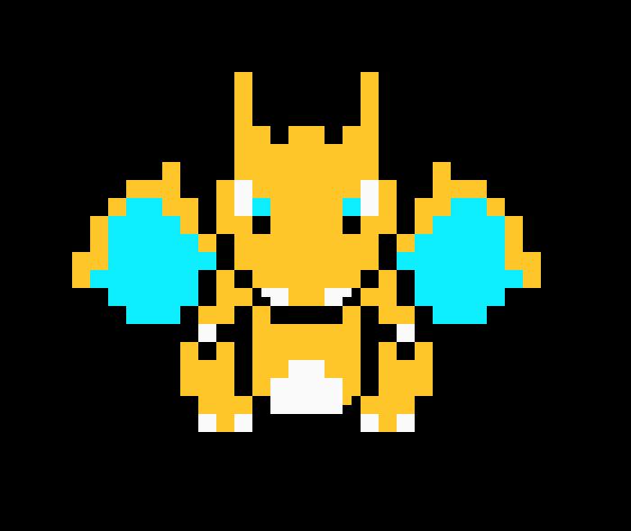 Dracaufeu Pixel Art Maker