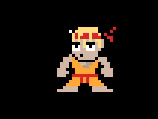 8 Bit Fighter Template lazy | Pixel Art Maker