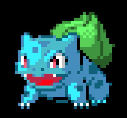 Pokemon Bulbasaur Pixel Art Maker