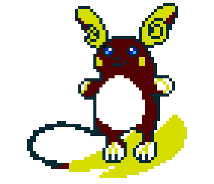 Alolan Raichu Pixel Art Maker