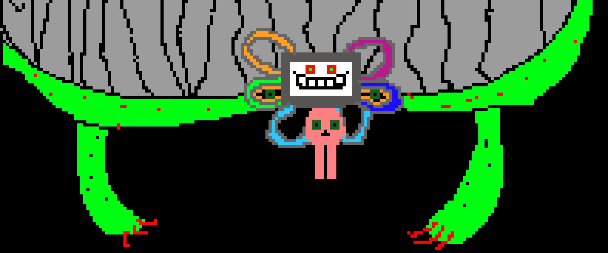Omega Flowey (   Not Fight Sprite) | Pixel Art Maker