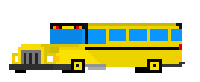 School Bus Pixel Art Maker